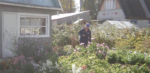 Anna in the garden