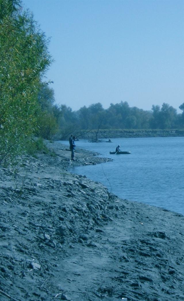 At the Ob, Fishing