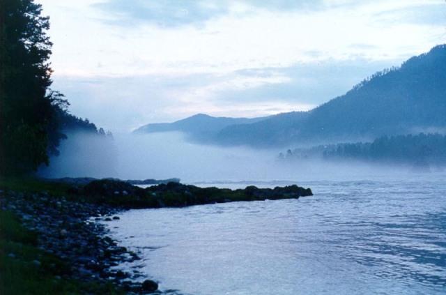 The Katun River in Altai Mountains